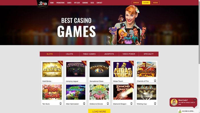 Slots Capital Casino Homepage