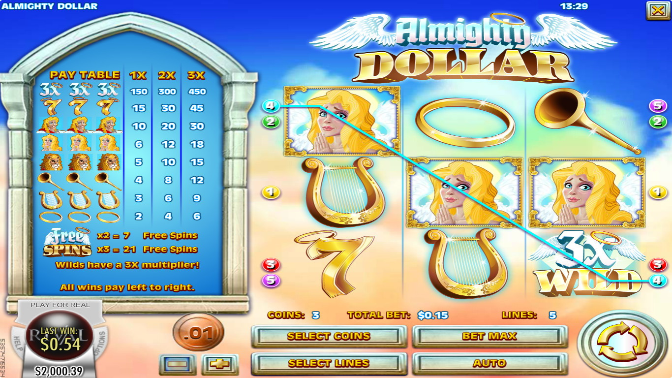 Almighty Dollar Slot Game
