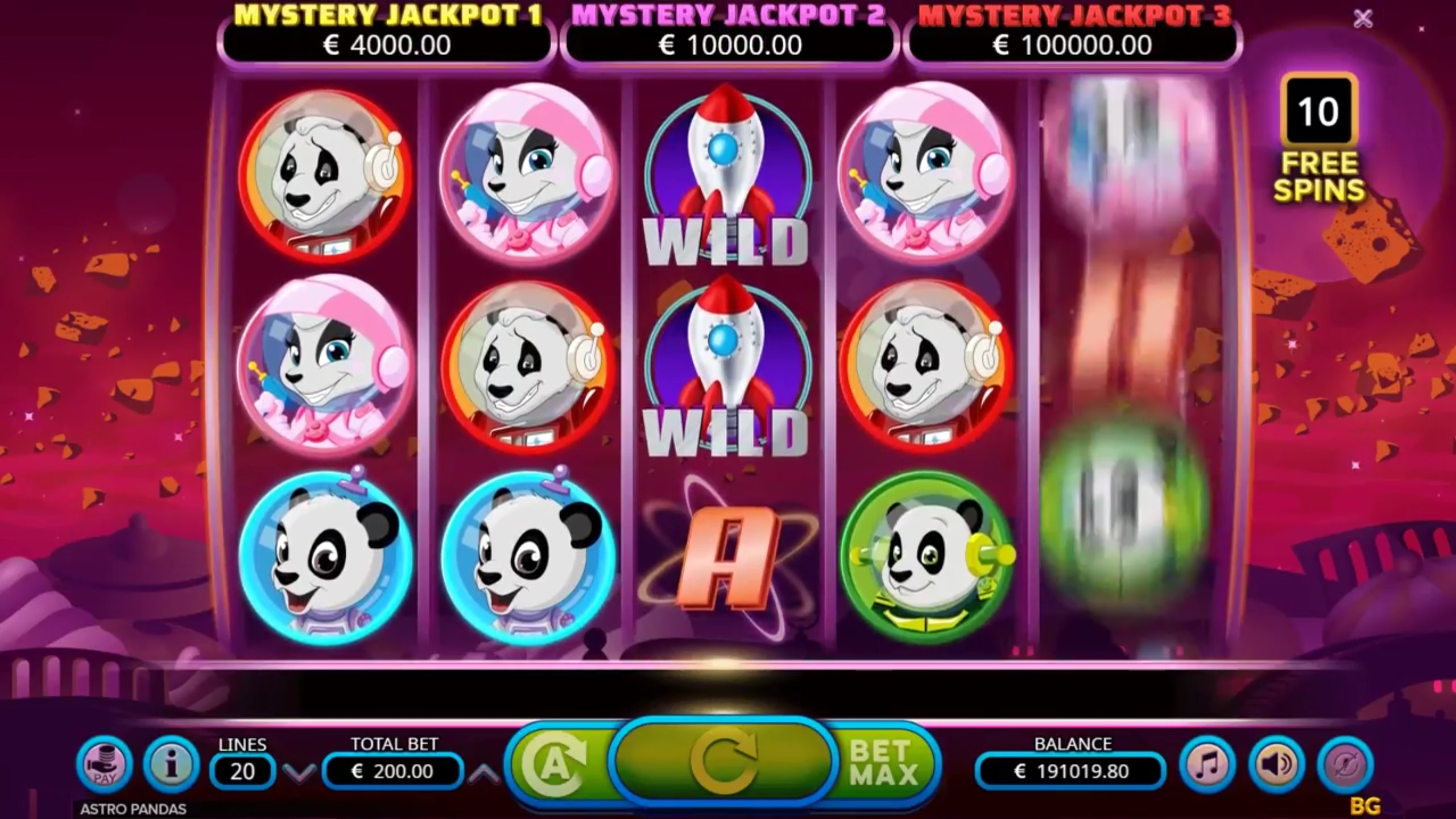 Astro Pandas Slot Machine