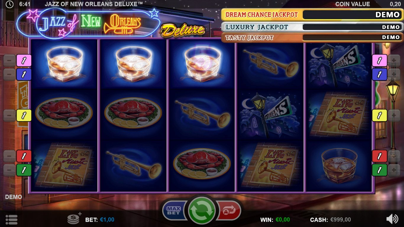 Jazz of New Orleans Deluxe Slot Game