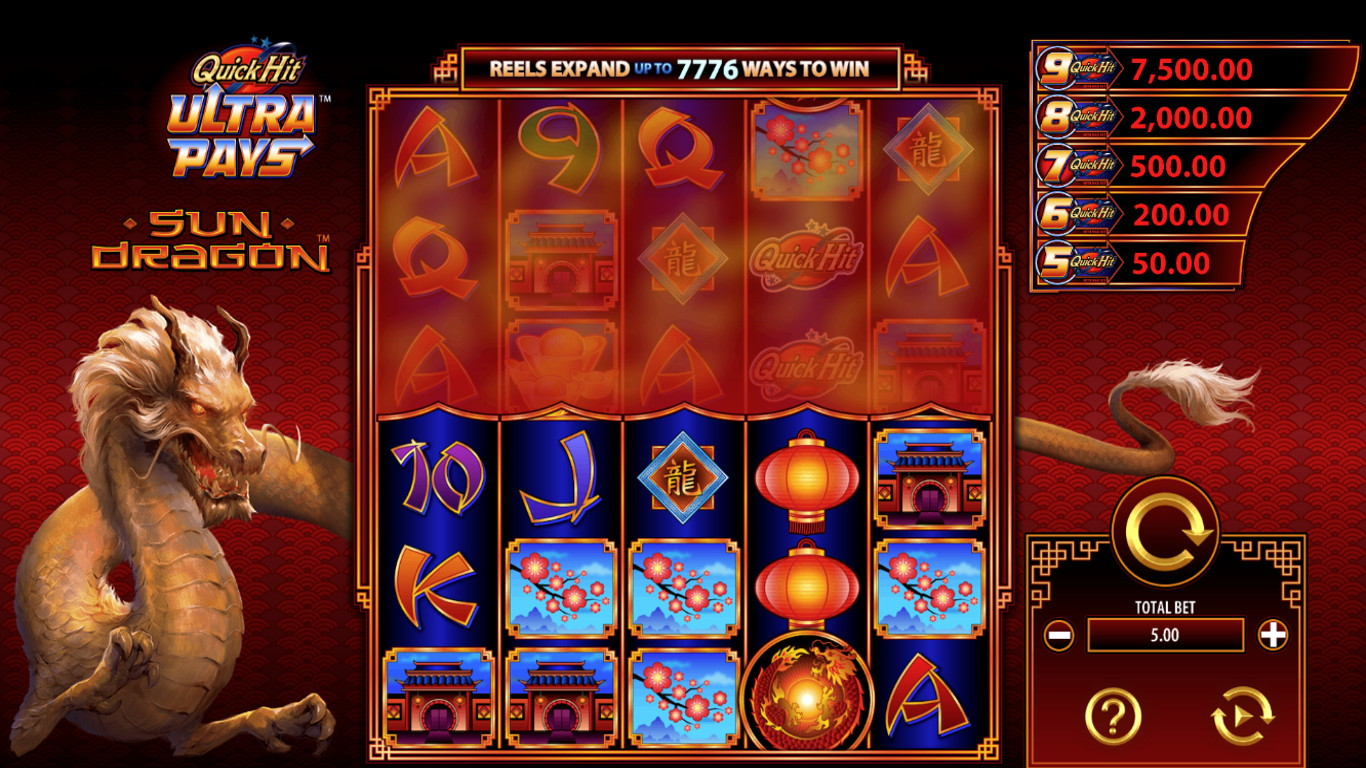 Quick Hit Ultra Pays Sun Dragon Slot Game