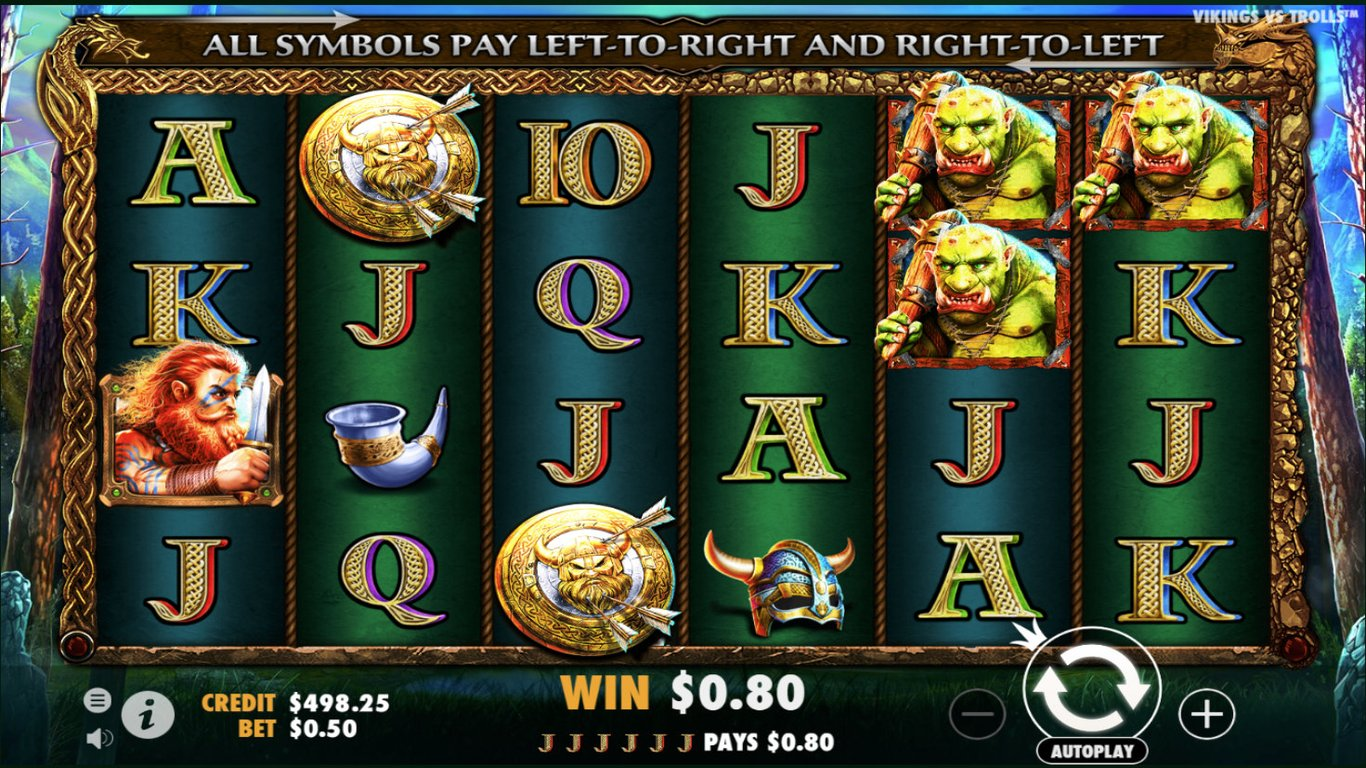 Vikings vs Trolls Slot Game