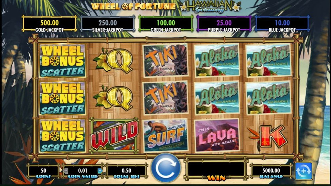 Wheel of Fortune Hawaiian Getaway Slot Game
