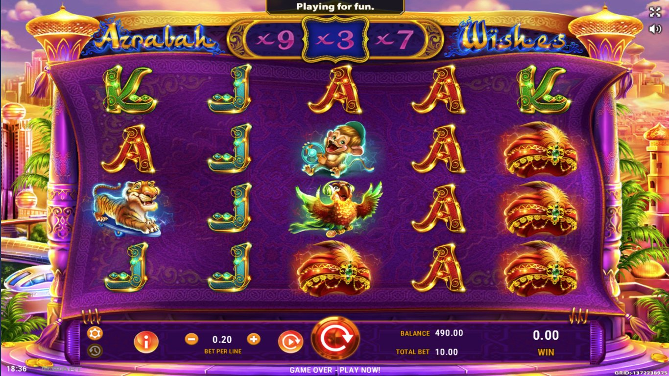 Azrabah Wishes Slot Game