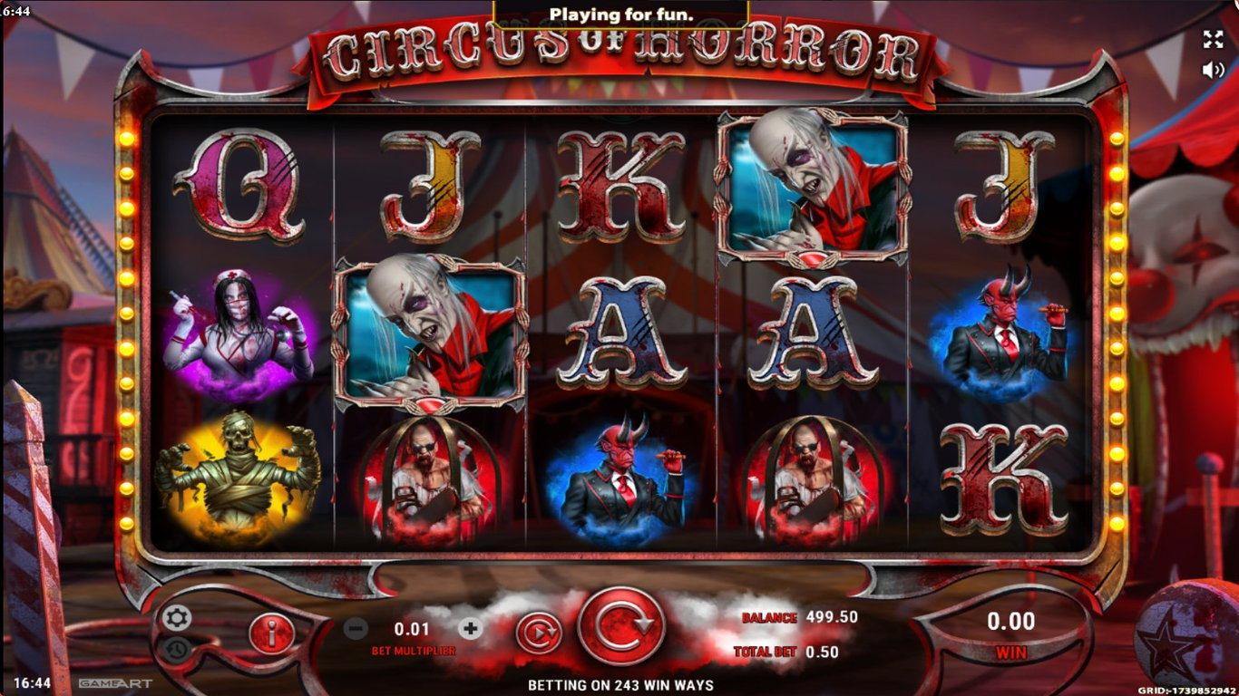 Circus of Horror  Slot Game