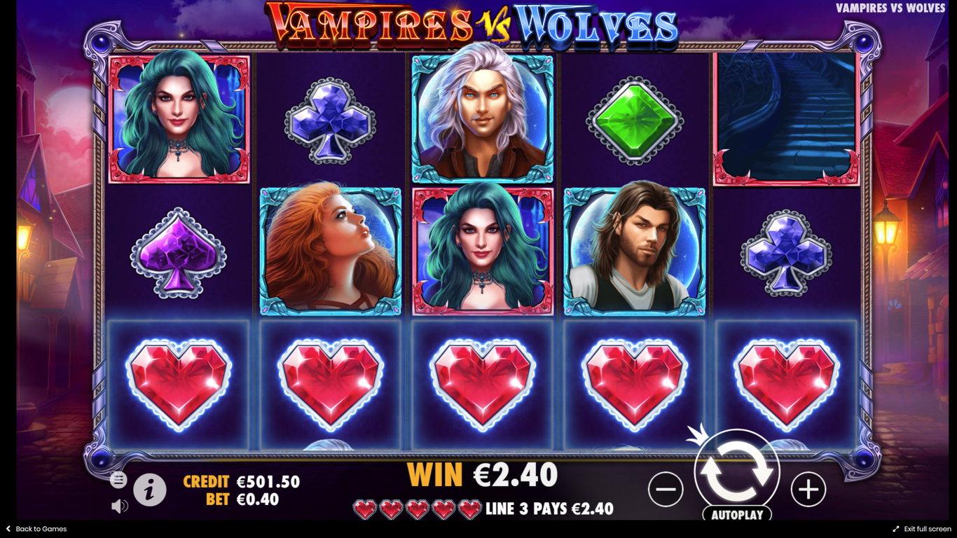 Try No Download Vampires Vs. Werewolves Slots